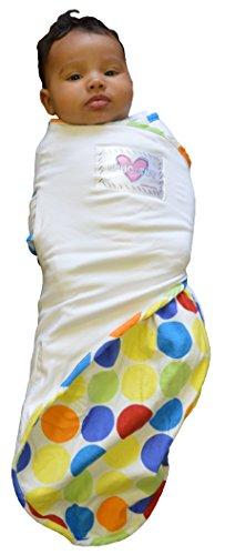 Go Mama Go Snug and Tug Adjustable Swaddling Blanket, Rainbow - Swaddling Blanket Tug