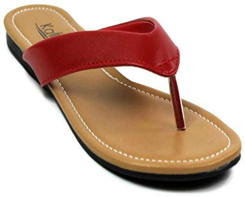 Kali Footwear Girl's Cocoa-Jr. Flip Flop Flat Sandal