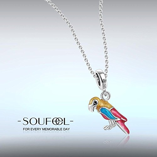 Soufeel 925 Argent Perroquet Charm Compatible Européen Bracelet Pour Charm Colliers Bracelet