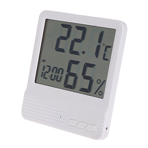 Cencity Wireless Weather Station, Digital Indoor Outdoor Thermometer Hygrometer, Remote Sensor, Home Weather Forecaster Station, Humidity, Clock, Alarm Clock - Smokers Station Wall