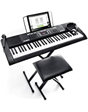 Alesis Melody 61 MKII | 61 Key Portable Keyboard with Built In Speakers, Headphones, Microphone, Piano Stand, Music Rest and Stool photo