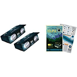 Celestron EclipSmart 2x Power Viewers Solar Eclipse Observing Kit Includes Two ISO Certified Safe Solar Eclipse Viewing Binoculars & 2017 Eclipse Map