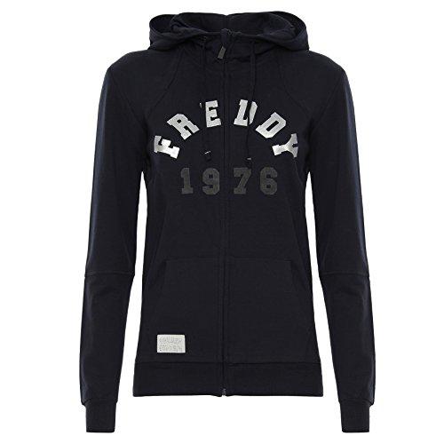 Felpa Freddy F7 ws116l01h01 t1 Cappuccio Zip P0tx0nZg