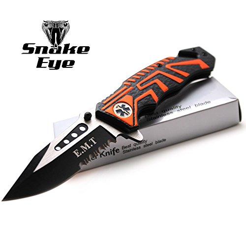 (Snake Eye Tactical EMT Rescue Style Action Assist Folding Knife 4.5