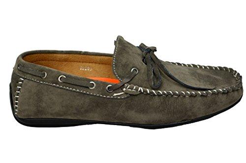 y CCC03 3 para ante cuero nbsp;estilos Mocasines flecos de con hombre Grey EqCgxwS