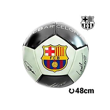 Balón de Fútbol Mediano Fluorescente F.C. Barcelona: Amazon.es ...