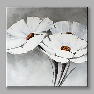 Hand painted white flowers oil painting with stretched frame for hand painted white flowers oil painting with stretched frame for home decoration include inner frame mightylinksfo