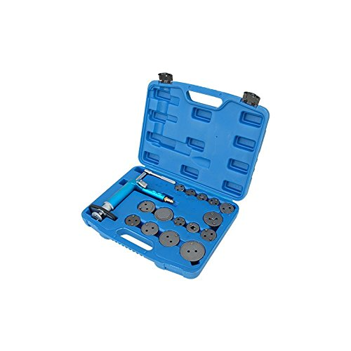 Pneumatic Disc Brake Caliper Piston Compressor Windback Wind Back Pad Tool 16pc W/case