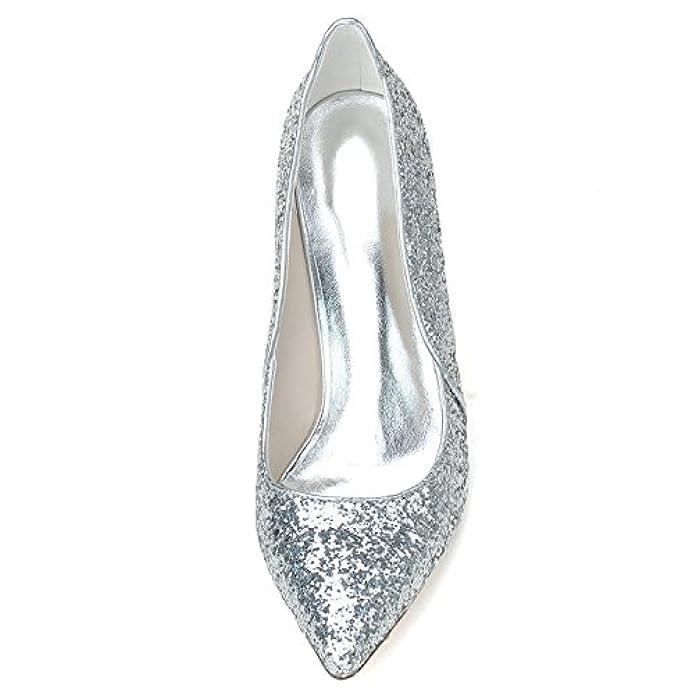Elobaby Scarpe Da Sposa Donna Kitten Heels Strass Classic Pumps Scintillante Platform Damigella D'onore 0608-13