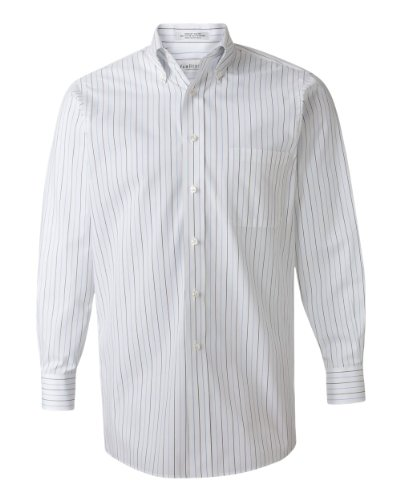 Van Heusen Mens Pinpoint Oxford Shirt - Multi-Pinstripe - Small