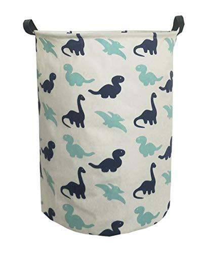 ESSME Laundry Hamper,Collapsible Canvas Waterproof Storage Bin for Kids, Nursery Hamper,Gift Baskets,Home Organizer (Dinosaur) ()