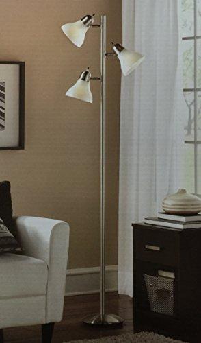 Mainstays 54 Track Tree Floor Lamp, Brushed (Track Tree Floor Lamp)