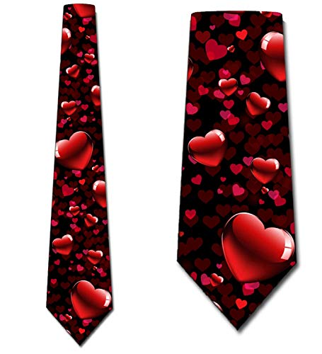 - Valentines Day Ties Mens Valentines Hearts Allover Necktie by Three Rooker