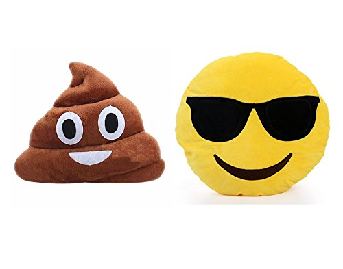 Emoji Poop Pillow+round Oi Emoji Smiley Emoticon Cushion Pillow(very Cool)