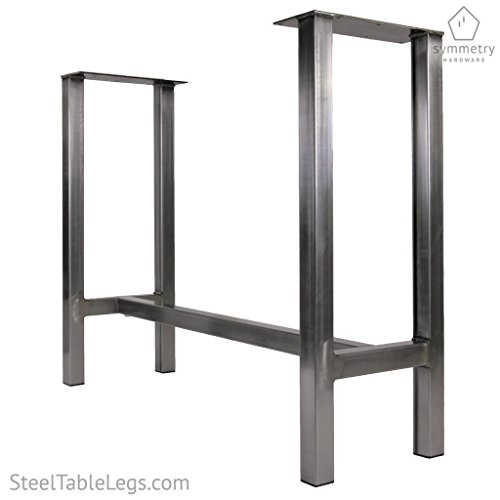 Metal Dining Table Base - The 'Chassis' - 1 WHOLE BASE by Symmetry Hardware - Modern Industrial Table Legs