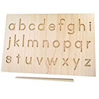 Double Sided Canadian Made Solid Wood Alphabet Tracing Board