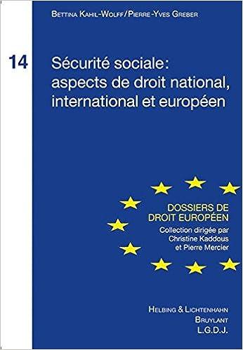 Livres Sécurité sociale : aspect de droit national, international et européen epub, pdf