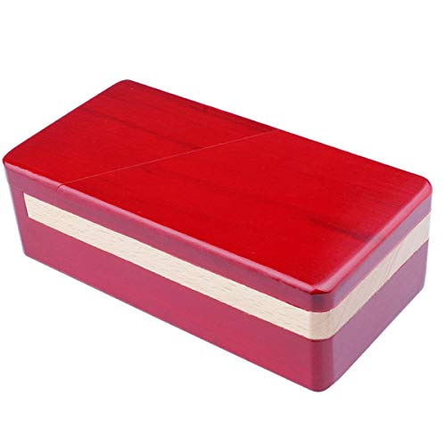 Impossible Box Puzzle Master Secret Opening Box Wooden Red Magic Box with Secret Drawer Mysterious Gift Box Puzzle