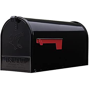 Gibraltar Mailboxes Elite Large Capacity Galvanized Steel Black, Post-Mount Mailbox, E1600B00