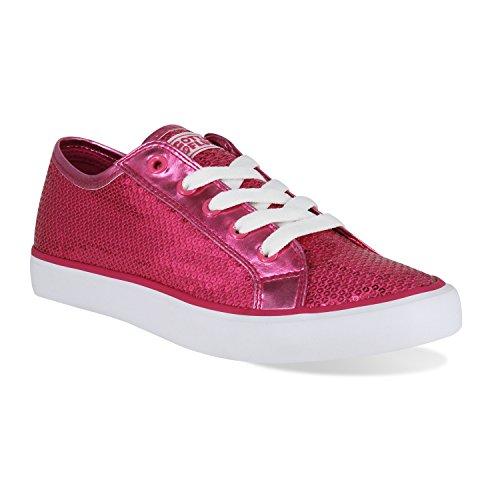 Moet Flitsen Disco Ii Lace Up Lage Top Sneaker Hot Pink