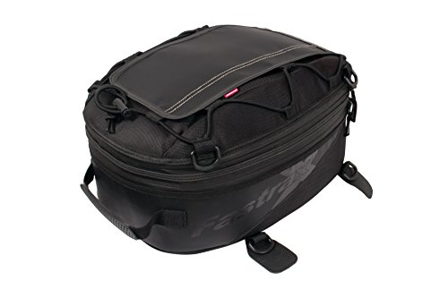 00 Backroads Series: Water Resistant Reflective Motorcycle Tail Bag, Black, 28 Liter Capacity ()