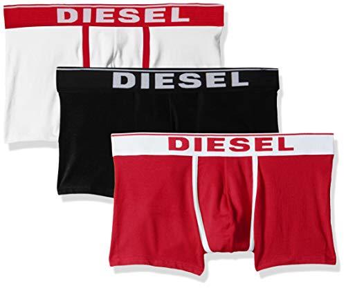 Diesel Men's UMBX-DAMIENTHREEPACK Boxer 3pack, Black/red, L