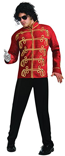 Military Jacket Adult Costumes - Michael Jackson Deluxe Military Jacket, Red, Large Costume