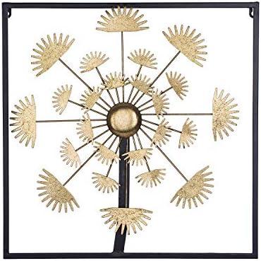 Knl Inc Home Decor Sun Flower Picture Frame Metal Wall Art Wall