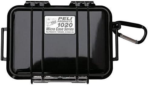 Prodotto in USA PELI 1020 Micro Case Trasparente//Giallo Grado di protezione IP67 Protezione stagna per piccoli dispositivi sensibili Capacit/à di 0,5L