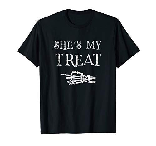 Couples Halloween Costume Matching T-Shirt - She's My