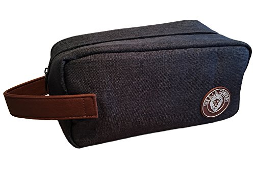 Toiletry Bag (Dopp Kit) - Convenient Men's Grooming Kit for Shaving & Beard Products - Easy for Travel - Flexible, Durable & Roomy Bag - Handle for Style & Easy Carrying