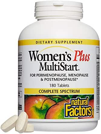 Natural Factors - Dr. Murray's Women's Plus Multistart Formula, Support for Perimenopause, Menopause & Postmenopause, 180 Tablets (FFP)
