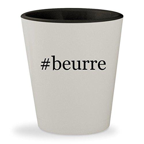 #beurre - Hashtag White Outer & Black Inner Ceramic 1.5oz Sh