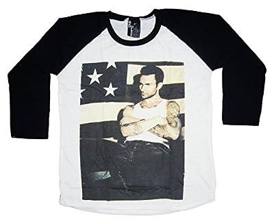 SALE!!! Madness/Esthouse Unisex Adult's Adam Levine Maroon 5 Baseball T-Shirt