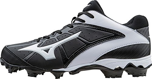 Mizuno Frauen 9 Spike ADV Finch Elite 2 Schnell Pitch Geformte Softball Cleat Schwarz-Weiss