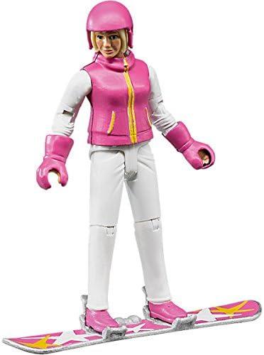 Bruder Skier with Accessories Toy Figure