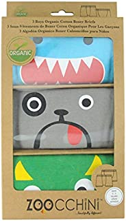 Boys 3 Assorted Organic Boxers Set - Green Multi (2-3 years)