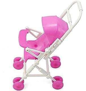 MTSZZF Cochecito de bebé Que Camina a pie para Barbie Juguete de plástico Precioso Muebles de