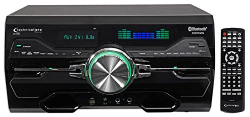 """Technical Pro DV4000 DVD Player and Receiver, 5"""" H x 10"""" W x 17"""" D, Black"""