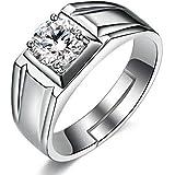 Hot & Handsome Cubic Zircon Adjustable Rings for Men & Boys