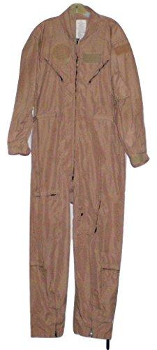 Original Military DESERT TAN NOMEX FLYERS COVERALLS size 46 Regular Flight Suit Pilot