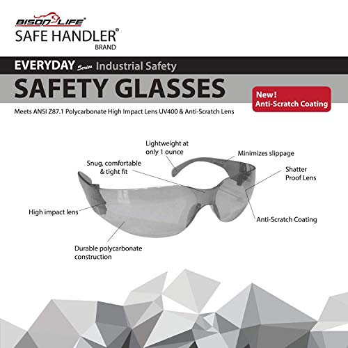 SAFE HANDLER Full Color Safety Glasses | One Size, Adult, Youth, Full Color Polycarbonate Lens and Temple, BLACK, Box of 12 (Case of 12 Boxes, 144 Pairs Total) by Safe Handler (Image #5)