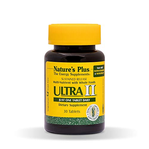 (Natures Plus Ultra II Multivitamin - 30 Vegetarian Tablets, Sustained Release - Daily Vitamin and Mineral Supplement for Overall Health, Energy Booster - 30 Servings)
