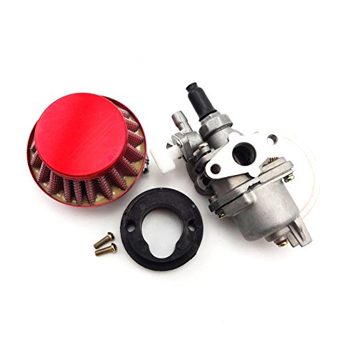 TC-Motor Carburetor Carb Carby + Red Air Filter + Stack For 2 Stroke 47cc 49cc Engine Parts Mini Moto Kids ATV Quad Dirt Pocket Bike Minimoto