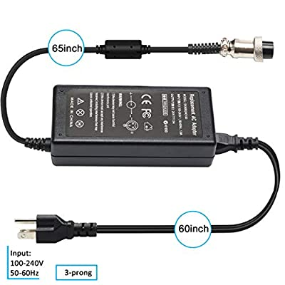Govolia MX350 E175 36W Electric Scooter Battery Charger for Razor E100 E200 E200S E125 E225 E300 E325 E350 E400 E150 E500 PR20 MX400 ZR350, Pocket Mod, Sports Mod and Dirt Quad 3-Prong Inline-24V 1.5A : Sports & Outdoors