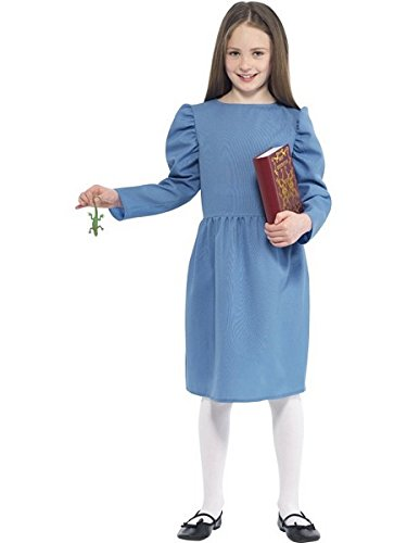 [Age 7-9 Blue Girls Roald Dahl Matilda Costume] (Halloween Costumes Ideas For Girls Age 12)