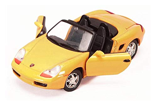 Showcasts Porsche Boxster Convertible, Yellow 73226WYL - 1/24 Scale Diecast Model Toy Car
