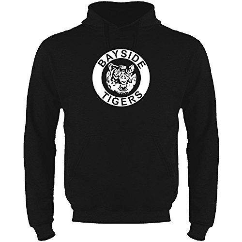Bayside High School Tigers Black S Mens Fleece Hoodie Sweatshirt by Pop Threads