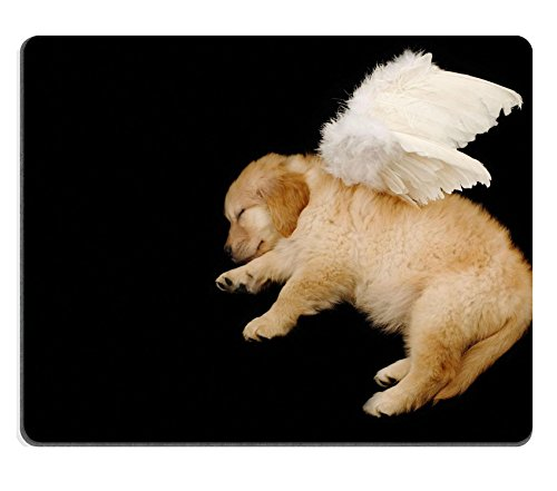 [MSD Natural Rubber Mousepad IMAGE ID: 3239335 innocent puppy wearing angel wing] (Fantasy Life Angel Costume)