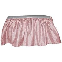 Baby Doll Crocodile Crib Skirt/ Dust Ruffle, Pink